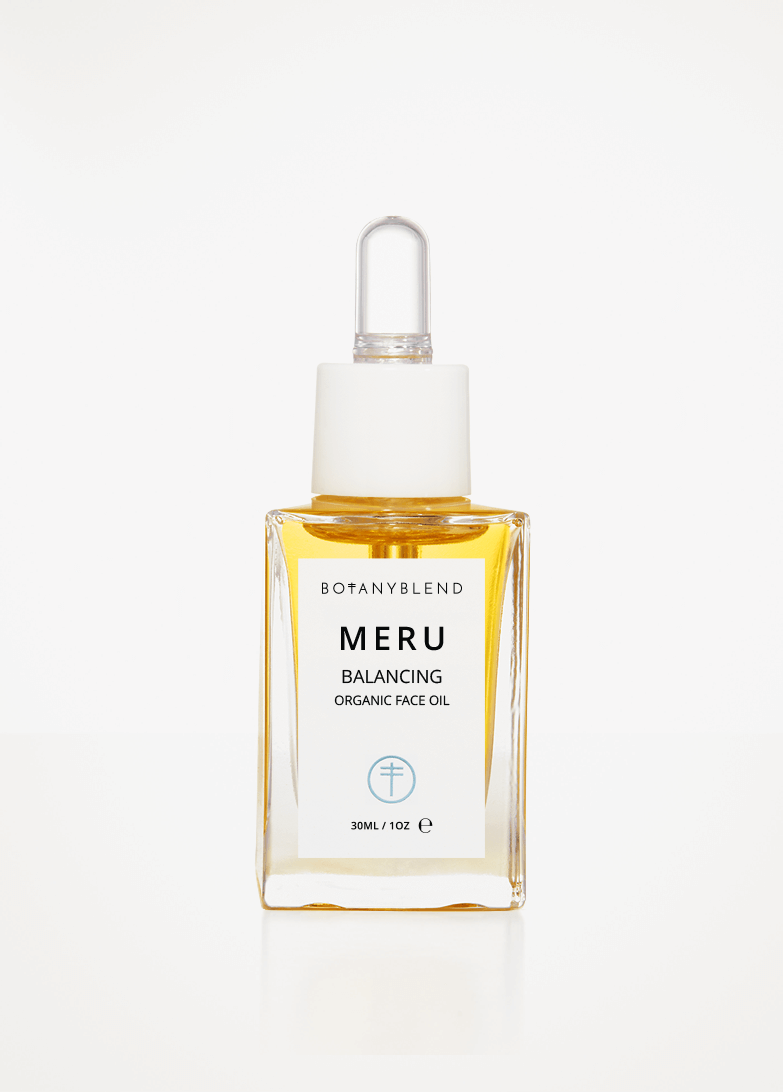 Meru Organic Face Oil Bottle
